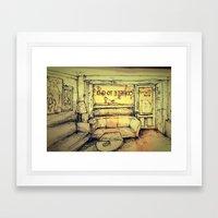 Tjilly bar Framed Art Print