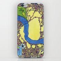 Tiny Underdog City Map iPhone & iPod Skin
