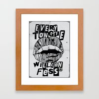 EVERY TONGUE CONFESS Framed Art Print