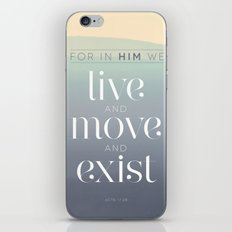live / move / exist iPhone & iPod Skin