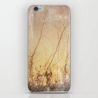 sea plants (gold) iPhone & iPod Skin