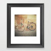 La Bicicleta Framed Art Print