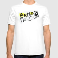 Artless Nonculture (Ransom) Mens Fitted Tee White SMALL