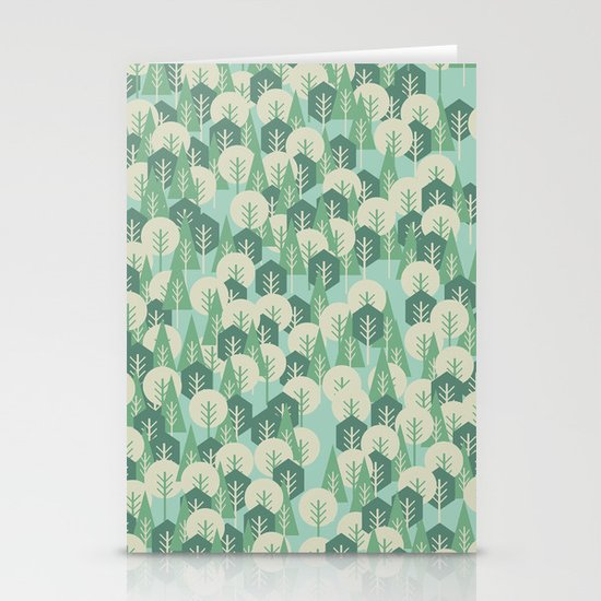 Geometric Woods Stationery Card