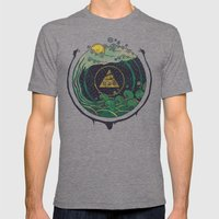 Water Mens Fitted Tee Tri-Grey SMALL