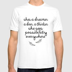 She's a dreamer Mens Fitted Tee White SMALL