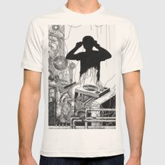Music Machine Mens Fitted Tee Natural SMALL