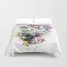 Skull - Parrots 2 Duvet Cover