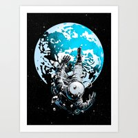 The Lost Astronaut  Art Print