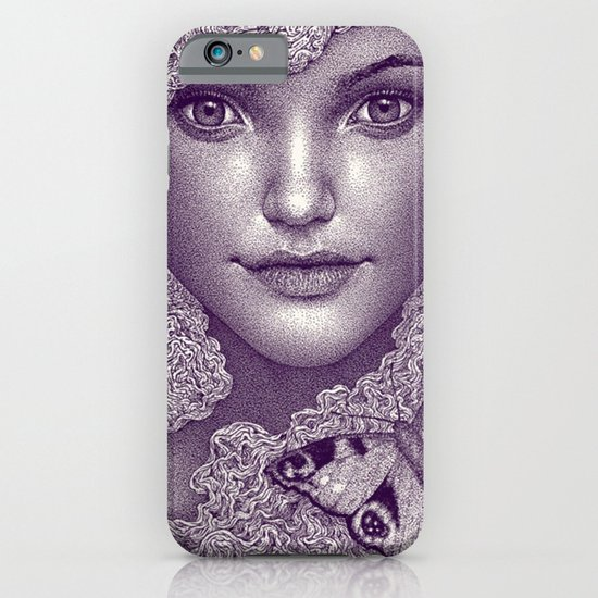 Girl with butterfly iPhone & iPod Case