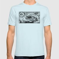 Steampunk Skyline Mens Fitted Tee Light Blue SMALL