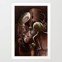 Blood Letting with Leeches Art Print