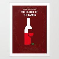 No078 My Silence of the lamb minimal movie poster Art Print