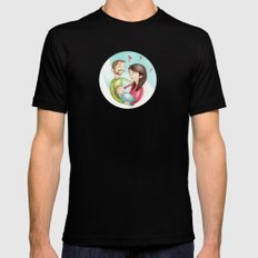 Family SMALL Black Mens Fitted Tee