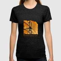 my brown eyed girl Womens Fitted Tee Tri-Black SMALL
