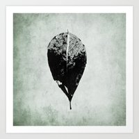 leaf skeleton Art Print