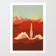 Art Print featuring The Uncharted by The Art Of Danny Haa…
