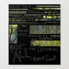 The Road Less Traveled By Canvas Print