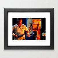 Molten Glass...On A Stick Framed Art Print