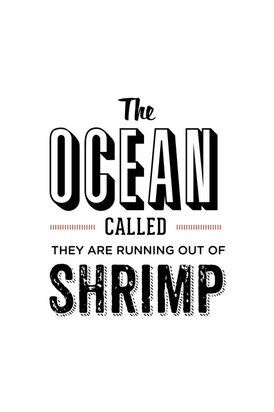 Shrimp Art Print