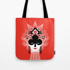 The Queen of clubs Tote Bag
