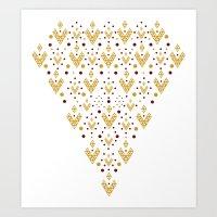 Geometric Diamond Art Print