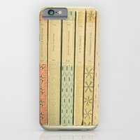 yellow iPhone & iPod Cases featuring Old Books by Cassia Beck