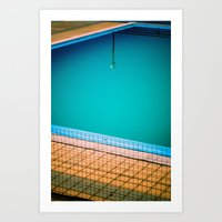 Lamp in swimming-pool Art Print