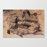 Canvas Print featuring Horse by Marisabel Lavastida