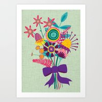 Bunch Of Flowers Art Print