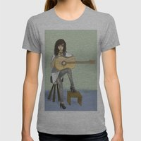 Now If Only I Could Play Guitar Womens Fitted Tee Athletic Grey SMALL