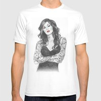 Kat Von D Red Lips Mens Fitted Tee White SMALL
