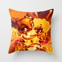 Adventure With Pug Throw Pillow