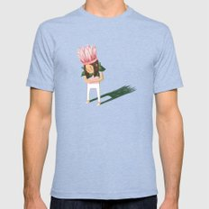 Cyclamen Mens Fitted Tee Tri-Blue SMALL
