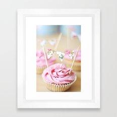 bunting cupcakes Framed Art Print