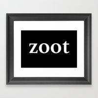 zoot inverse Framed Art Print