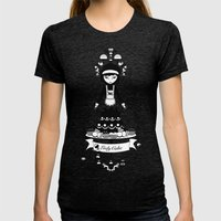 Lady Cake Womens Fitted Tee Tri-Black SMALL