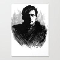 DARK COMEDIANS: Steve Carell Canvas Print