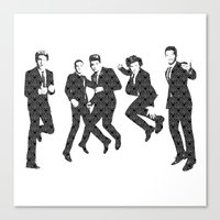 One Direction - Vintage Canvas Print