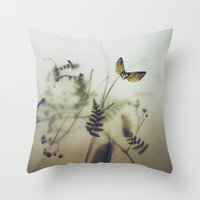 pine wings Throw Pillow