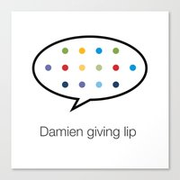 Damien giving lip Canvas Print