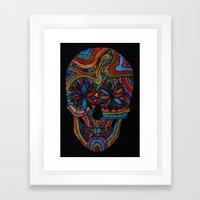 Skull happy Framed Art Print