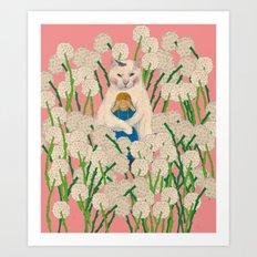 pinpong cat Art Print