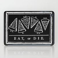 Eat, or Die (black) iPad Case