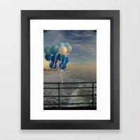 Santa Monica pier 4 Framed Art Print