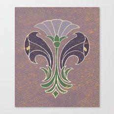 Art Deco Flowers Canvas Print
