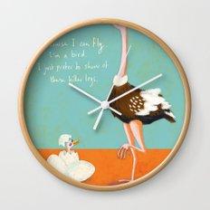 Confident Ostrich Wall Clock