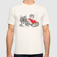 Little Red Riding Hood Mens Fitted Tee Natural SMALL
