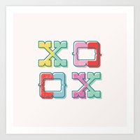Color-Blocked XOXO Art Print
