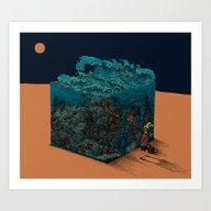 The Ocean I Met In Deser… Art Print